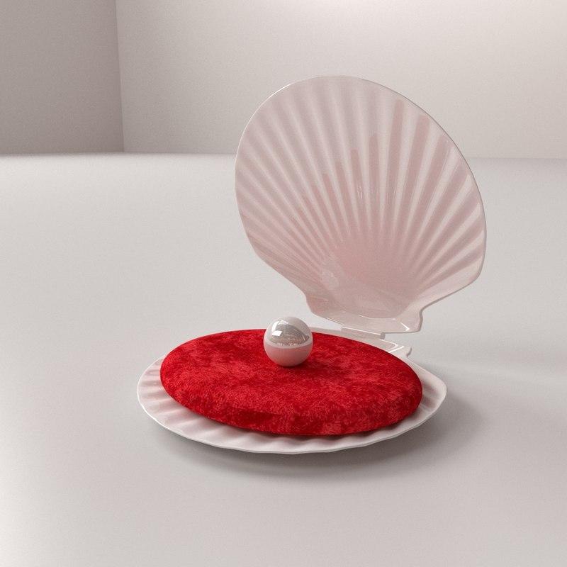 3d pearl clamp model