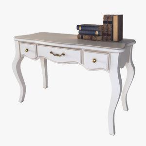3d table books model