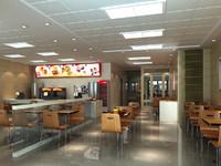 fast food restaurant 3d model