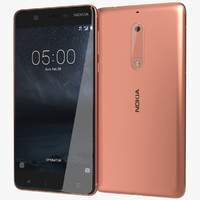 realistic nokia 5 copper 3d 3ds