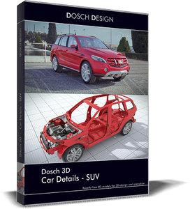 car details - suv 3d model