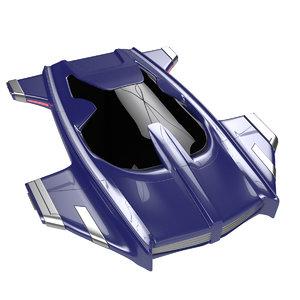 futuristic hover car h3 3d model