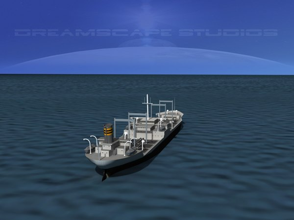 3d 3ds oil tanker ship 1940s