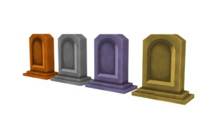 obj asset tombstone handpainted warcraft