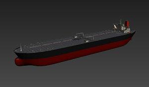 3d oil tank ship model