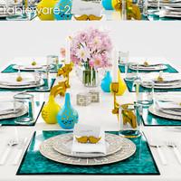3d model tableware 2 table
