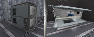 scifi interior 3d blend
