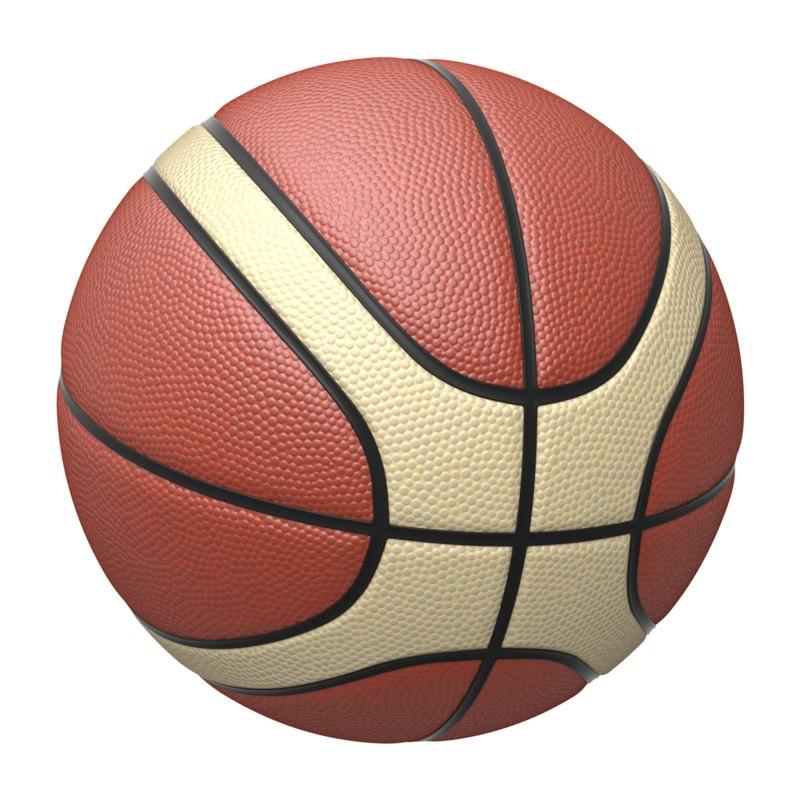 3d model of basket ball basketball