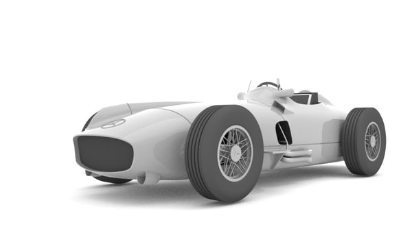 blender mercedes-benz w196 obj