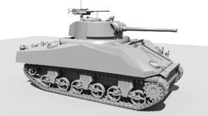 3d model tank m4a3