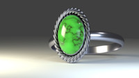 green agate ring 3d blend
