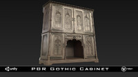 3d model pbr gothic cabinet