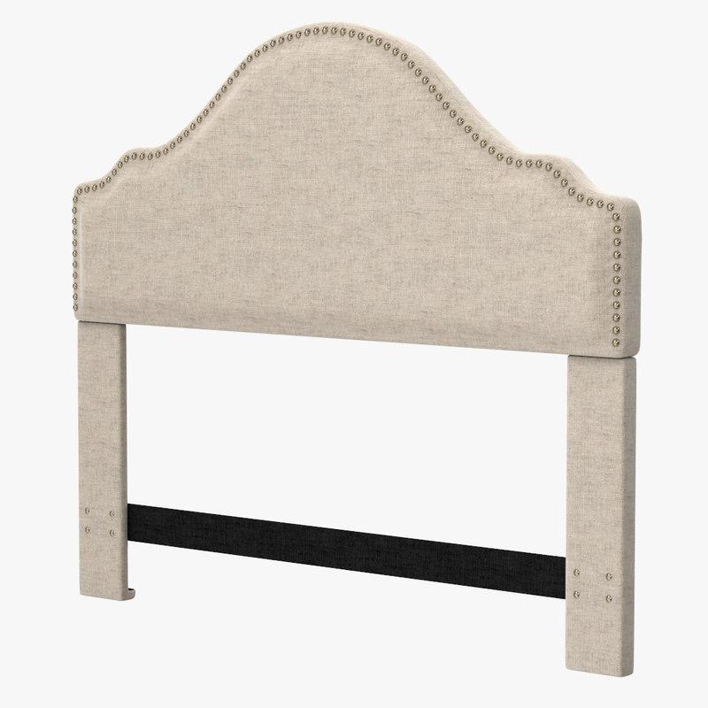 max clara upholstered headboard