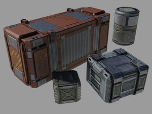 3d containers ver 1 0 model