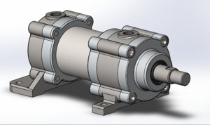 pneumatic cylinder assembly 3ds