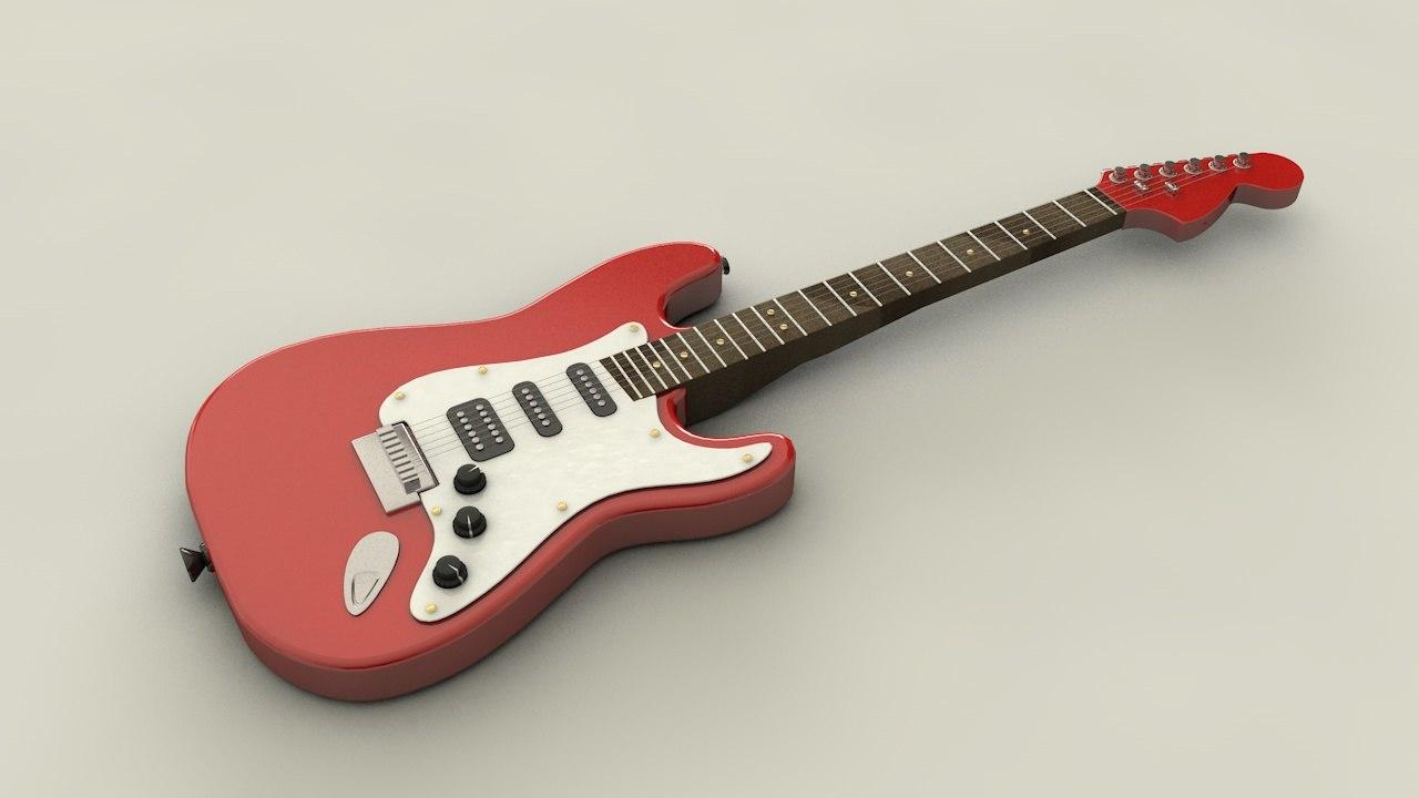 electric guitar c4d