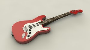 electric guitar c4d