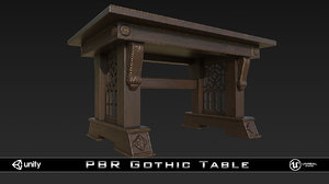 3d model pbr gothic table