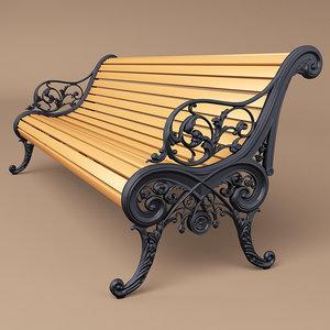 baroque bench obj