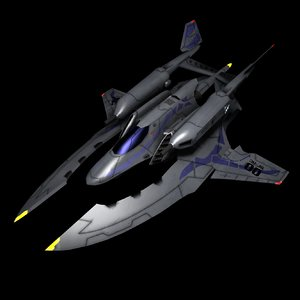 3d model of starship military spacecraft