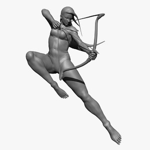3d model female archer