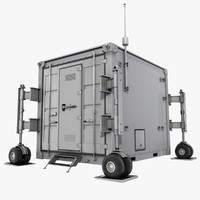 uav drone container 3d model