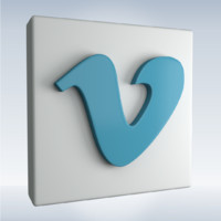 3d model social icon vimeo