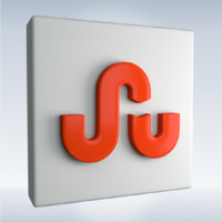 3d model social icon stumbleupon