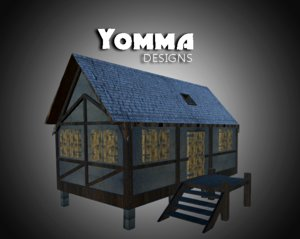 free 3ds model medieval house