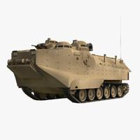 3d aav-p7 a1 desert camo model