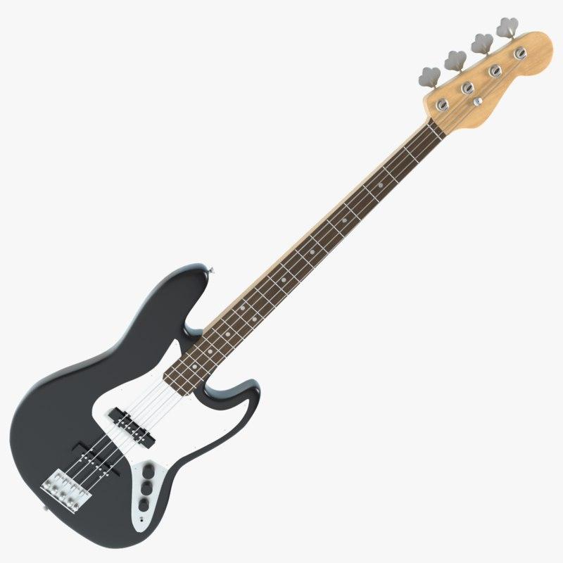3d bass guitar model