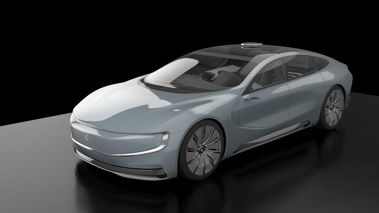 3d model le eco futuristic