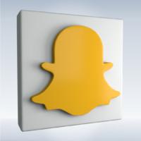 3d social icon snapchat