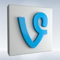 3d model social icon vine