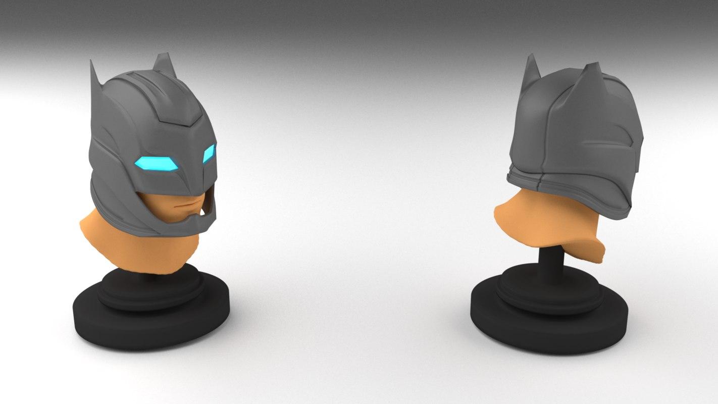batman helmet obj