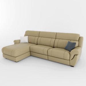 corner sofa keln 3d model