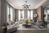 interior design postmodern style 3d model