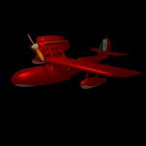 savoia porco rosso 3d model