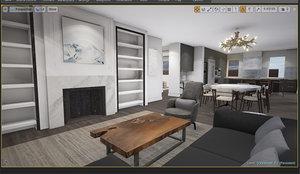 3d model of ready vr penthouse city scene