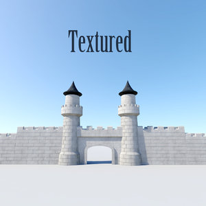 3d gate wall model