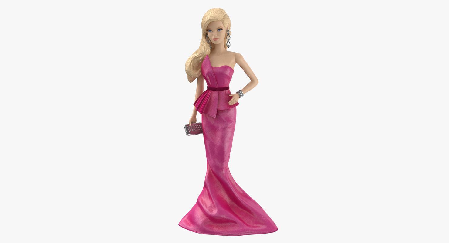 3d barbie doll 01