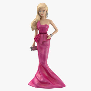 3d barbie doll 01
