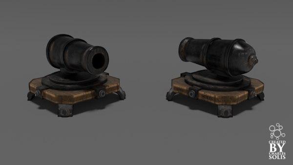 3d cannon clash clans