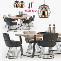 freifrau dining set 01 3d model
