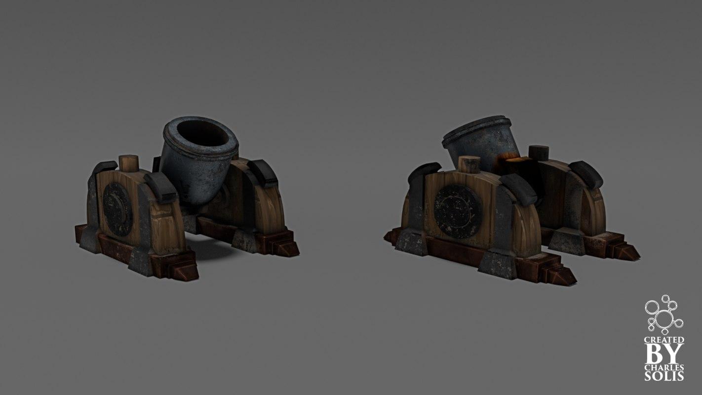 3d mortar clash clans