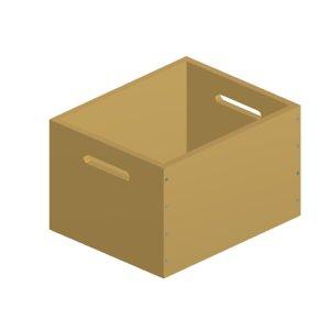 3d model wooden box 03
