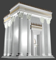 3d model herod temple main structure