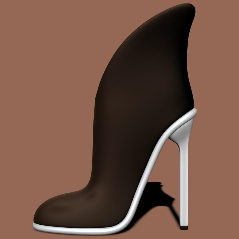 3d shoes fashion heels model