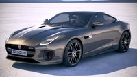 f-type coupe dynamic 3d model