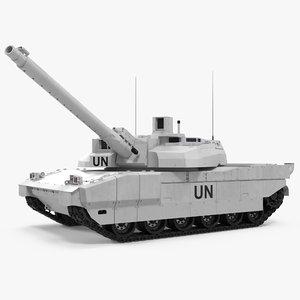 3d tank amx-56 leclerc united nations model